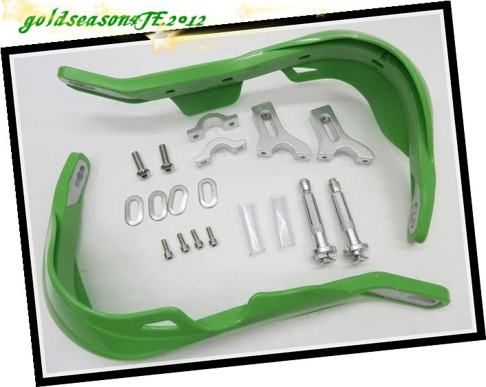 7/8 Green Handguard Raptor Hand Guards Motorcycle MX ATV Snowmobile mounting