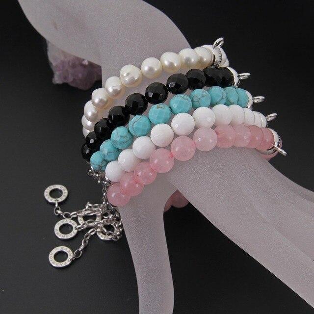 Купить женский браслет с жемчужинами thomas розовый кварцевый кристалл картинки