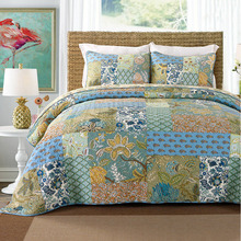 American Quality Patchwork Quilt Set 3PCS Quilted bedding Wash Cotton Quilts Bed Covers Bedspread King Size Coverlet Blanket