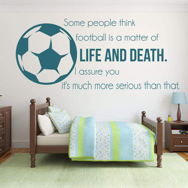 Football Soccer Vinyl Wall Stickers Football Is Life And Death  Inspirational Quotes Wall Sticker Sports Art