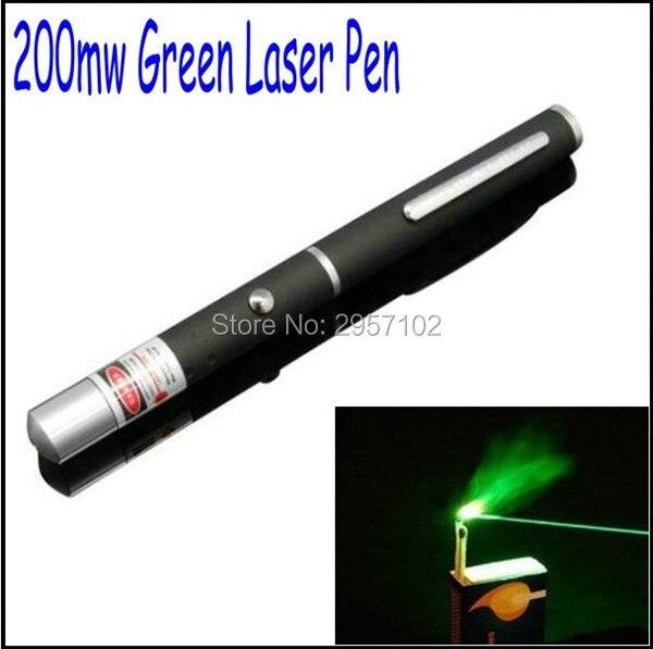 Новый зеленый лазерная указка Pen луч света 200 м 532nW фонарик профессиональный Lazer высокой Мощность ful AAA Батарея + подарочная коробка Охота