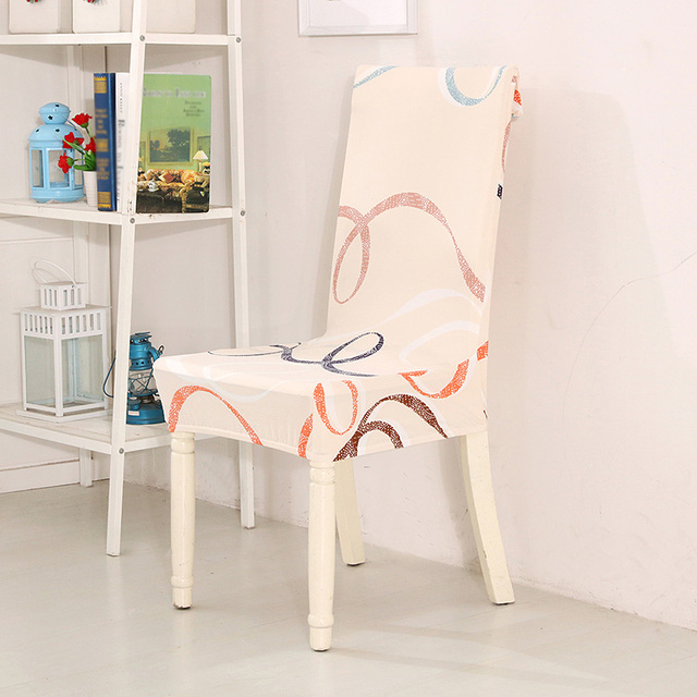 MGHEYUD Pastoral Anti Dirty Stretch Chair Covers Easy Wash Removable Elastic Protector For Dining