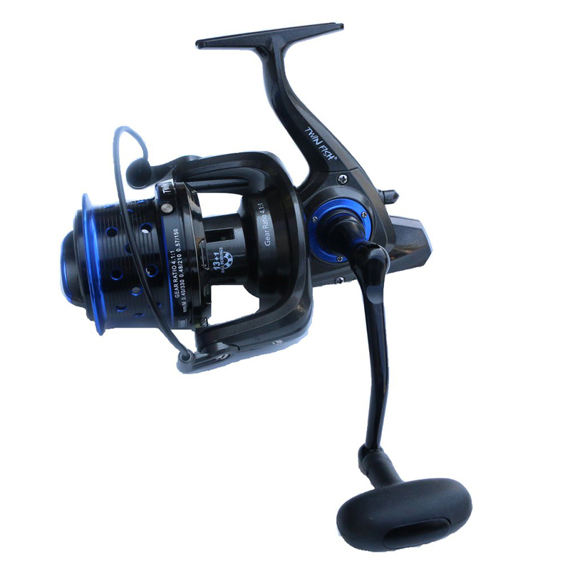 13+1BB  4.1:1 15kg Drag Force Long Cast Fishing Reel TF8000 9000 10000 Spinning Reel Long Shot Wheel Saltwater Trolling Reels