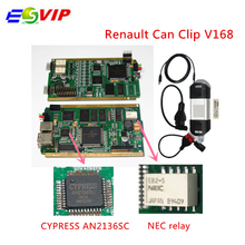 DHL free best price R–e-na-ult Can Clip V168 with Gold PCB Board  CYPRESS AN2136SC + NEC relays OBD2 Diagnostic Scanner