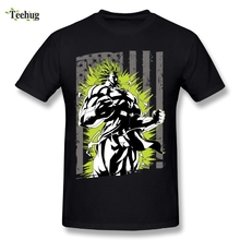 Cool Mans Print American Super Saiyan Dragon Ball T Shirt Suitable For Male Brand Tees