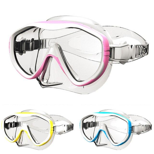 6557576ec9d09 Profissional caça Submarina Mergulho Máscara de Mergulho Snorkel Óculos de  Natação Caça Submarina Silicone Óculos de