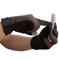 BFYL Coffee Luxury Fashion Man Touch Screen Leather Cotton Winter Warm Gloves Sell well