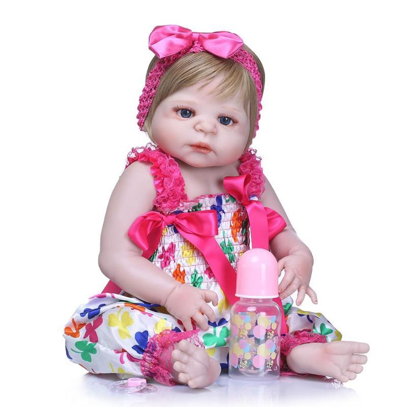 NPK 22inch Realistic Soft Silicone Imitation Newborn Reborn Baby Doll ToysNPK 22inch Realistic Soft Silicone Imitation Newborn Reborn Baby Doll Toys