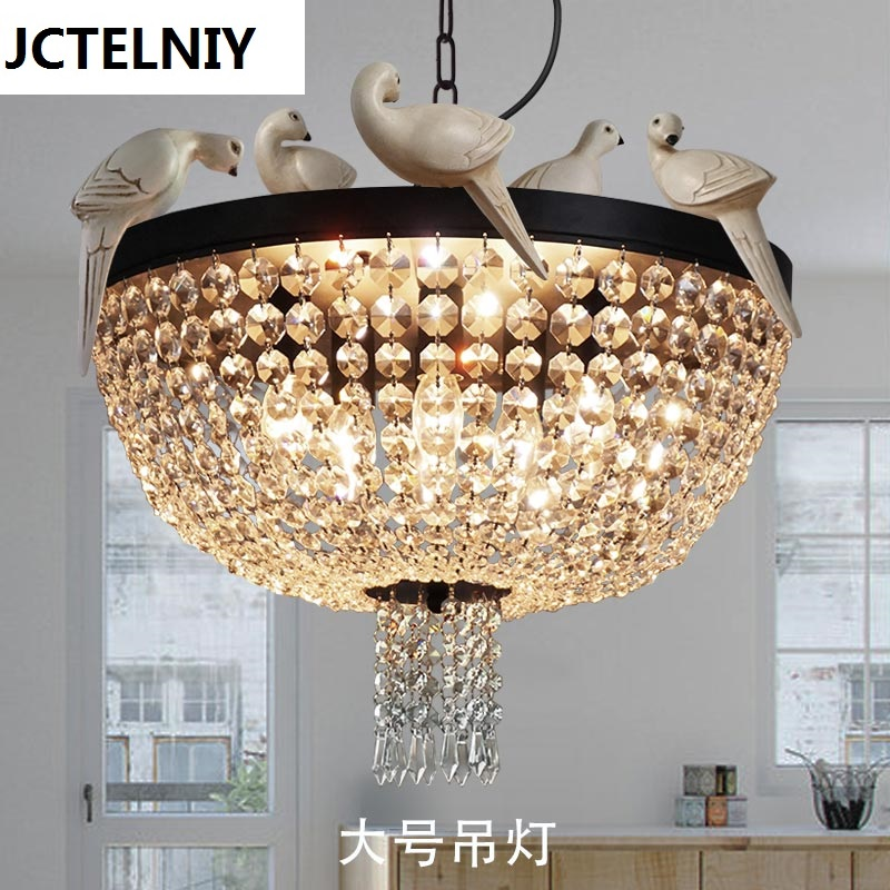 American style bar counter entranceway crystal pendant light