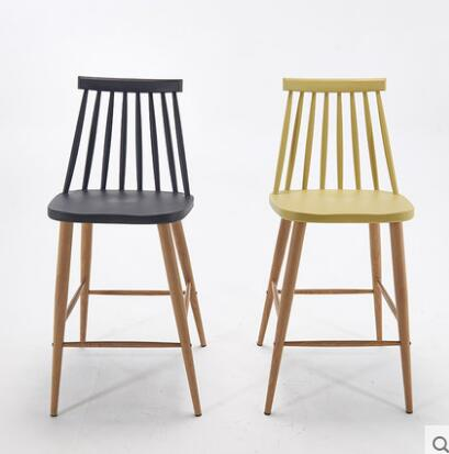 YINGYI Free Shipping Modern Dining Bar Chair Black Color yingyi new design modern pc plastic dining chair with arms or without arms free shipping