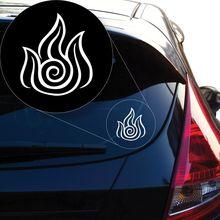 Letzter Airbender Fire Decal Sticker für Autofenster, Laptop und mehr