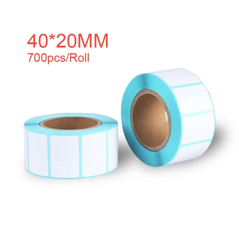 Купить с кэшбэком 40*20mm Adhesive Thermal Label Sticker Paper Supermarket Price Blank Label Direct Print Waterproof 700pcs/Roll