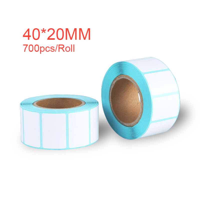 40*20mm Adhesive Thermal Label Sticker Paper Supermarket Price Blank Label Direct Print Waterproof 700pcs/Roll