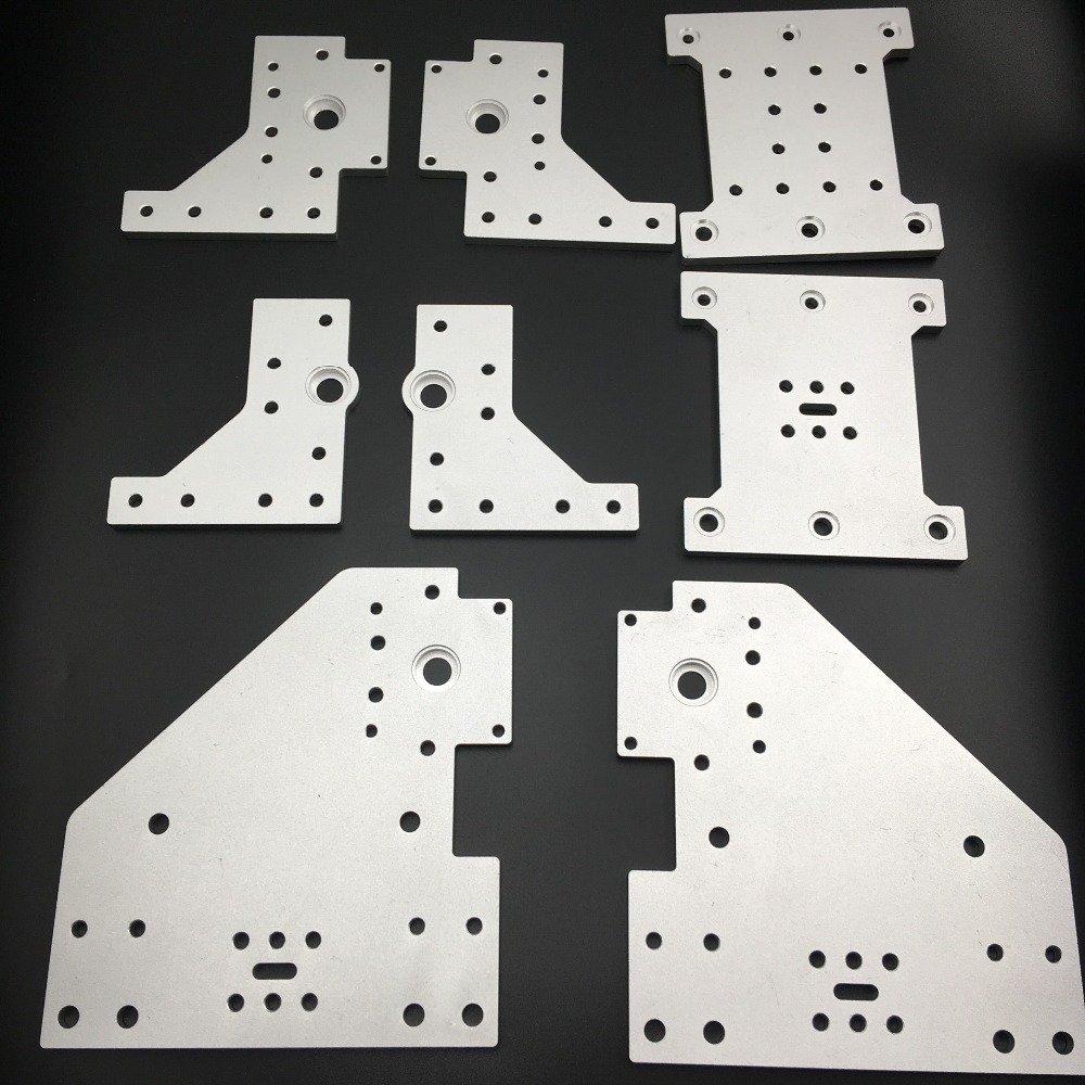 Funssor set of 8 Aluminum Gantry Plates kit for Kyo's Sphinx CNC machine Kyo Sphinx DIY CNC aluminum Plate set
