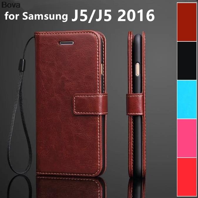 dla fundas samsung J5 posiadacz karty pokrowiec case do samsung galaxy J5 2016 skórzany pokrowiec na telefon ultra cienki portfel klapki