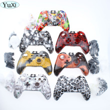 цена на YuXi Hot Shell for Xbox One Wireless Controller Hydro Dipped Bomb Sticker Case Replacement Housing Front + back Shell