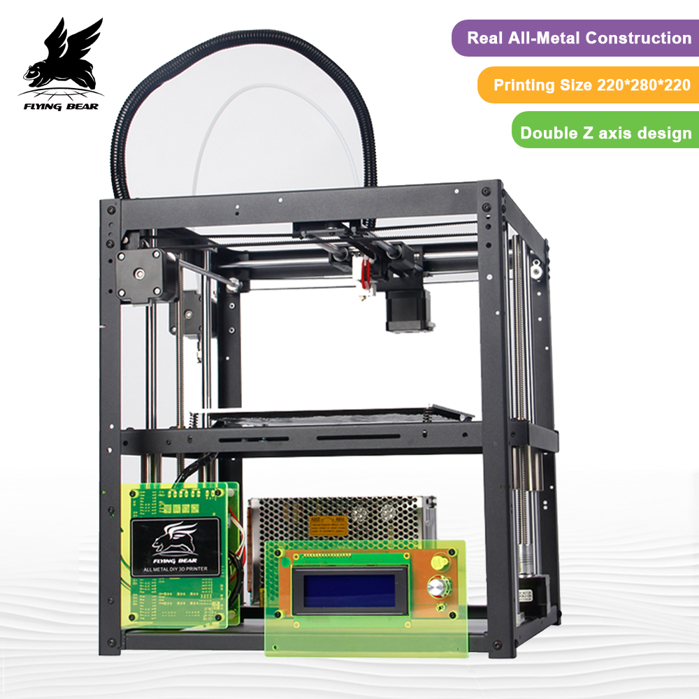 Gratuite de L'allemagne Plus Grande zone D'impression Flyingbear-P905 DIY3d Imprimante kit Full metal Haute Qualité Précision Makerbot Structure