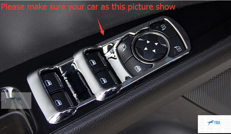 ABS Inside Door Handle Panel Sticker Surround Window Lift Switch Cover Trim 4 pcs For Ford Mondeo 2014 2015 / Fusion 2014 2015 4 door ford galaxy 2006 2015