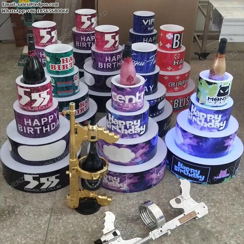 Sensational Customized Logo Led Happy Birthday Cake Bottle Presenter Glorifier Funny Birthday Cards Online Benoljebrpdamsfinfo