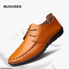 2017 новый мужской моды случайные кожаные ботинки пот-абсорбент дышащий натуральная кожа loafer мягкие и легкие черный размер 10