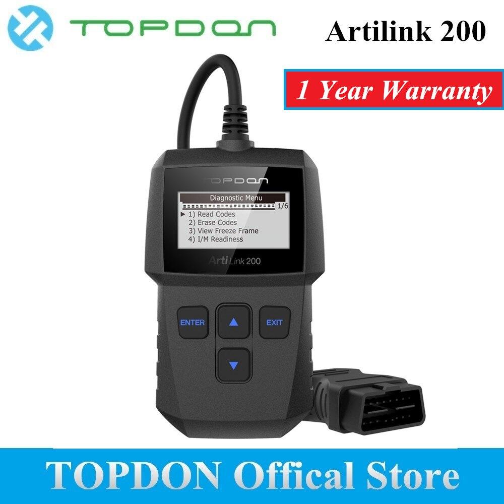 TOPDON ArtiLink 200 Automobile Outil De Diagnostic Auto OBDII OBD2 Scanner Mécanicien Autoscanner pour OBD 2 II Voiture X431 Creader 3001