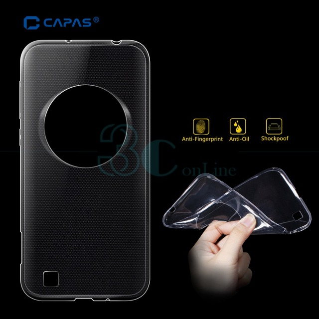 For ASUS Zenfone Zoom ZX551ML Case Back Cover Transparent TPU Protective Skin