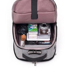 Image 5 - J & Q 2019 Yeni Moda Stil Anti Hırsızlık kilitli çanta Iş rahat sırt çantası Özel Kodlu Kilit USB Şarj Akıllı Fonksiyonel Sırt Çantası