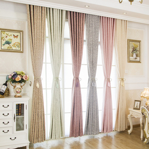 Image 2 - [byetee] Window Curtain Jacquard Curtain Fabrics Chenille Blackout Kitchen Luxury Curtains Doors For Bedroom Living Room Drapes
