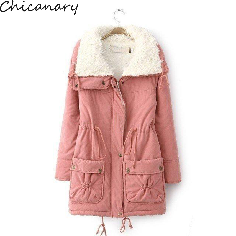 New 2016 Winter Cotton Coat Women Slim Outwear Medium-Long Wadded Jacket Thick Hooded Cotton Wadded Warm Cotton Parka Plus Size geckoistail 2017 new fashional women jacket thick hooded outwear medium long style warm winter coat women plus size parkas