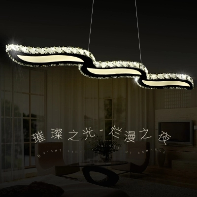 Simple Fashion LED Droplight Modern Lustre Crystal Pendant Light Fixtures For Living Dining Room Hanging Lamp Indoor Lighting modern led pendant lights hanging lamp dining room living room crystal pendant light modern lamps lustre lighting led pendant
