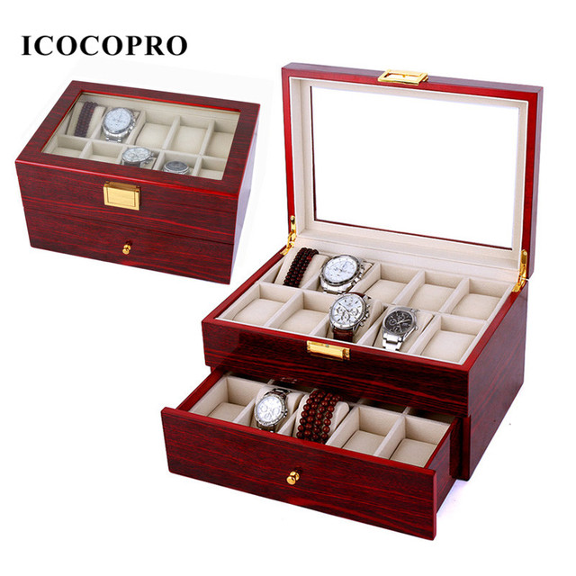 ICOCOPRO Watch Box Travel Jewelry Case Organizer Necklace Ring