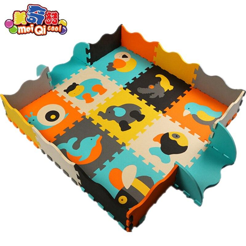 tapis de jeu en mousse eva pour bebe puzzle tapis de sol cloture jouets pour enfants carreaux educatifs et emboitables de 30x30x1cm