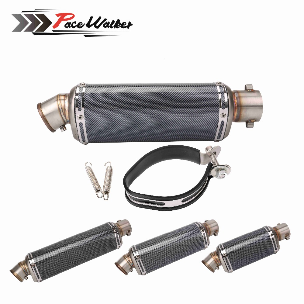 FREE SHIPPING 51mm Modified Motorcycle Exhaust Pipe Muffler CBR CB400 CB600 Z750 Z800 TMAX530 MT07 GY6 Muffler Silencer Escape modified akrapovic exhaust escape moto silencer 100cc 125cc 150cc gy6 scooter motorcycle cbr jog rsz dirt pit bike accessories