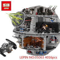 LEPIN 05063 4016pcs 05026 Star Set Wars Force Waken UCS Death Star Model Educational Building Blocks