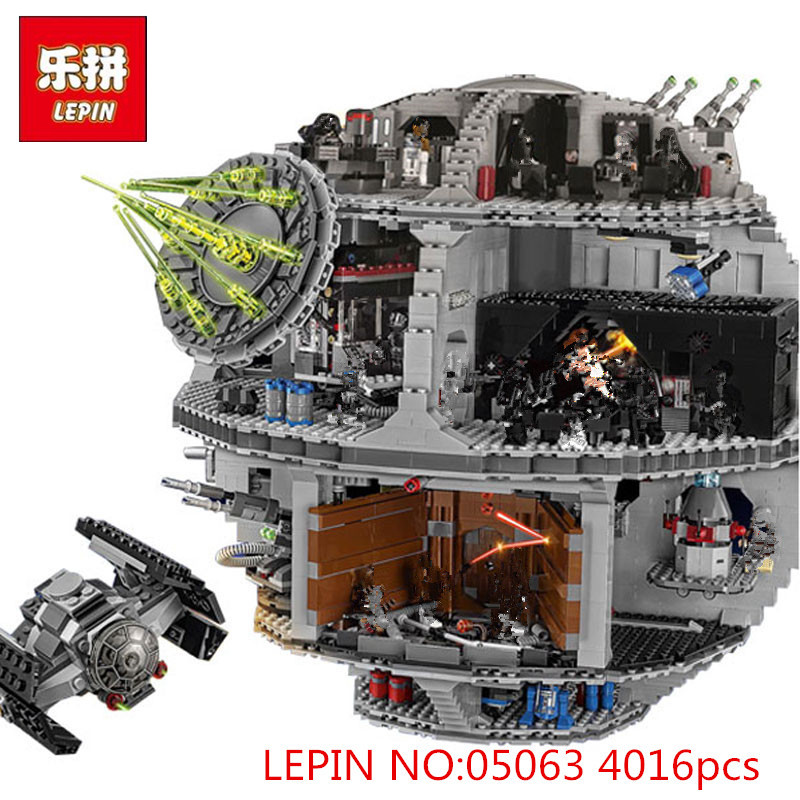 LEPIN 05063 4016pcs 05026 Star Set Wars Force Waken UCS Death Star Model Educational Building Blocks Bricks Children Toys 75159 in stock lepin 05063 4116pcs 05035 3804pcs star force waken ucs death wars model building blocks bricks toys gifts 75159 10188