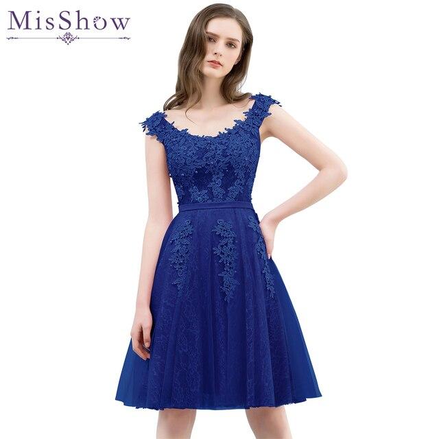 62d40820df6 homecoming dress cheap pink Royal Blue a line short appliques cocktail  party dress knee Length lace graduation dresses vestidos