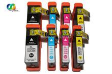 8 pacotes compatíveis dell series 31xl (série 33) cartuchos de tinta de alta capacidade extra para impressoras dell v525w v725w com Abacus24-7