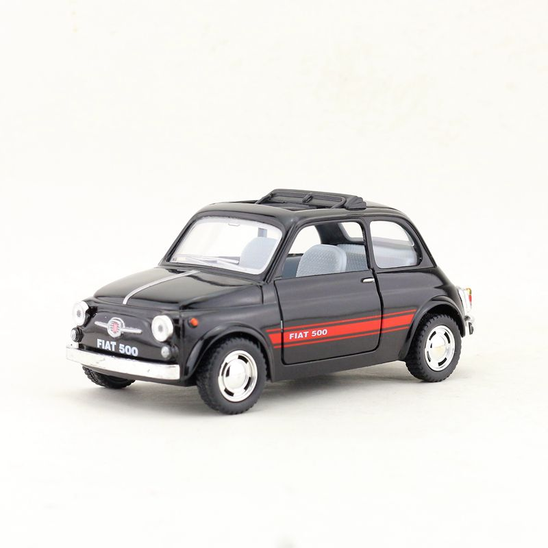 3 Colors 1:36 Alloy Fiat 500 Sedan Model,simulated Metal Openable Door And Pull Back Model,children's Toy Car,free Shipping