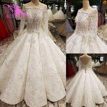 AIJINGYU Hochzeit Kleid Türkei Arabisch Kleider engagement Sexy Neueste Günstige Kleidung Mexikanischen Kleid Spitze Brautkleider Für Verkauf