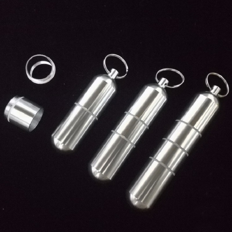 Outdoor Aluminum Waterproof Pill Shaped Bottle Sealed Bottle Holder Container Keychain Medicine Storage Boxes цена