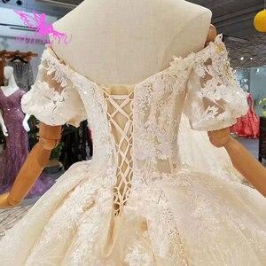 Image 5 - AIJINGYU concepteur de mariage A robes Unique abordable Royal Aliexpress Sexy 2021 2020 robe taille 18 nouveau Style robe de mariée