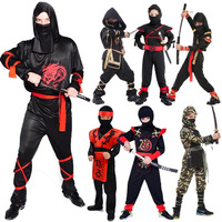 Kids Naruto Dragon Ninja Costume Martial Arts Warrior Assassin Boys Girls Role Play Fancy Dress Adult