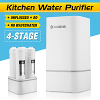 Countertop Reverse Osmosis Water Filtration System 4 Stage RO Water Filter Simple Set Up Faucet Filter Express Water White