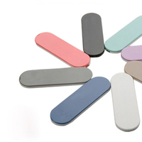 Soporte Universal para anillo de dedo para teléfono, soporte de agarre de plástico para teléfono móvil, multibanda, pegatina trasera inteligente multifunción para iphone