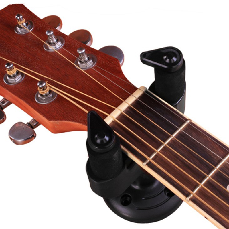 Купить с кэшбэком Guitar Hanger Stand Wall Mount Holder Hook for Electric Guitar Acoustic Guitar Mandolin Ukulele Guitar Wall Strap Holder Stand