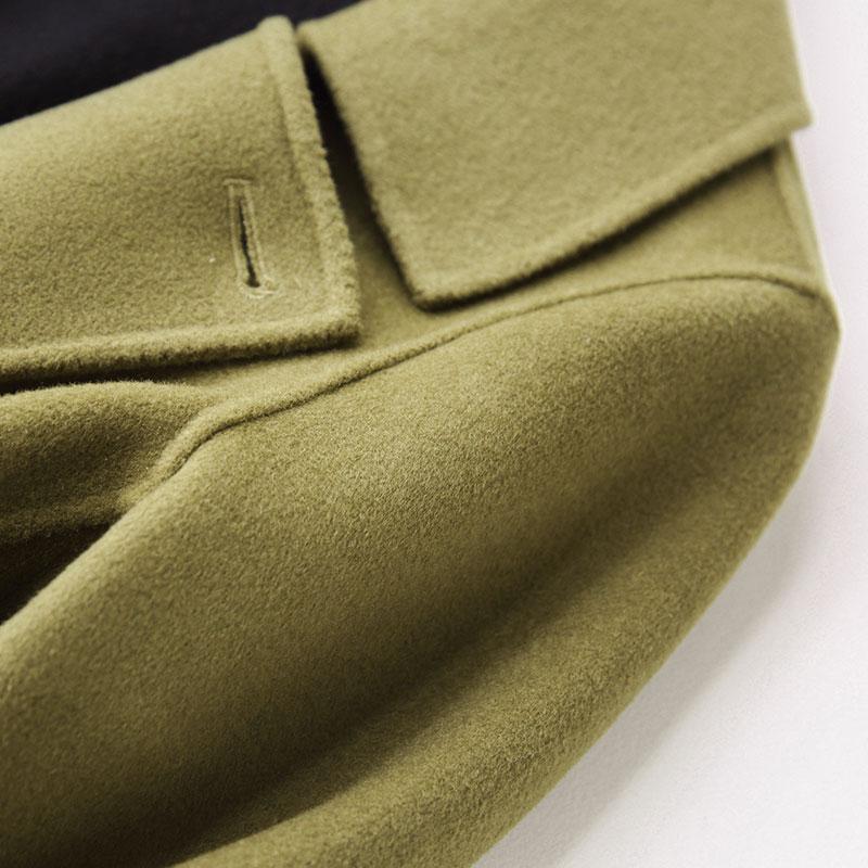 Laine My492 Manteau face Veste Kmetram Dames Femmes Feminino Manteaux 100 Green Vintage Longue Hiver Double Slim Automne Casaco 2018 Coréenne Utqw8F