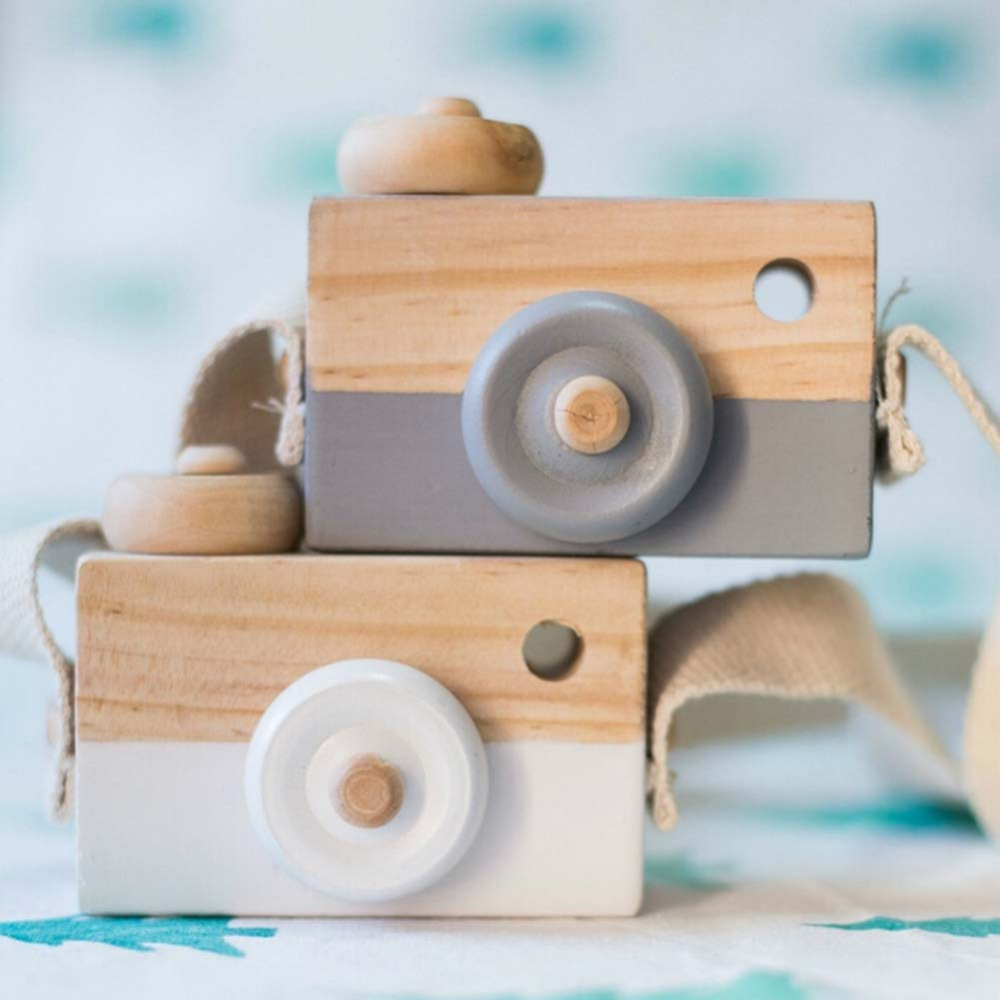 5 Colors Interesting Funny Wooden Camera Cool  Travel Mini Toy For Kids Children Safe Natural Birthday Gift  Room Home Decor