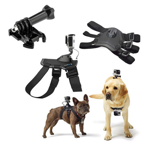 Go Pro Accessories Hound Adjustable Dog Fetch Harness Chest Strap Belt Mount For Go Pro Hero4