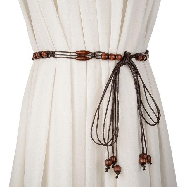 Tendance nationale tricoté ceinture gland décoration ceintures pour femmes  mince ceinture jupe taille corde tout- a74b5bbbf0b