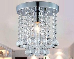 Image 3 - Хрустальный потолочный светильник для гостиной, круглый светодиодный светильник для украшения дома